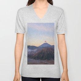 Mount Bromo volcano, Java, Indonesia Unisex V-Neck