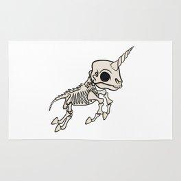 Skeleton Unicorn Rug