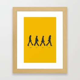 Abbey Road - Yellow Framed Art Print