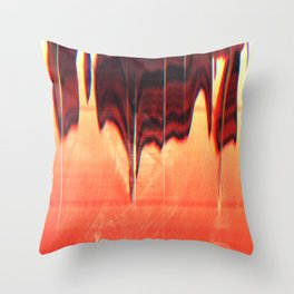 The Hand (scan glitch) Throw Pillow