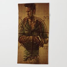 Compass of Uncharted Lands Beach Towel