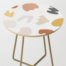 Abstract Shape Series - Autumn Color Study Side Table