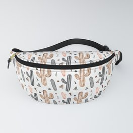 Neutral Watercolor Cacti & Geometric Shapes Fanny Pack