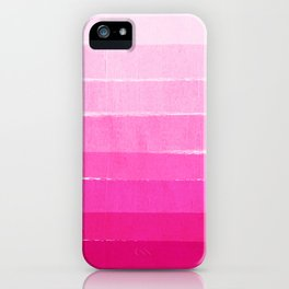 Luca - abstract painted ombre pink stripes striped minimalist art decor iPhone Case