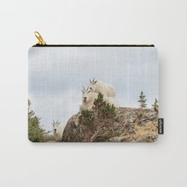 Three Ami-Goats // Scenic Hike Animals Photograph Colorado Wildlife National Park Mountain Goats Carry-All Pouch