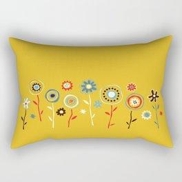 doodle flowers Rectangular Pillow