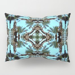 Architectural Palm Trees II Pattern Pillow Sham