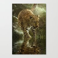 jaguar Canvas Prints featuring Jaguar by tarrby/Brian Tarr