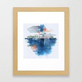 Lake Lines Framed Art Print