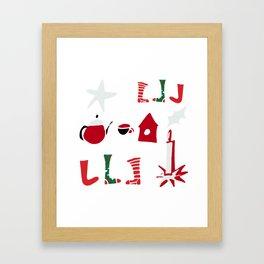 Christmas Cosy white Framed Art Print