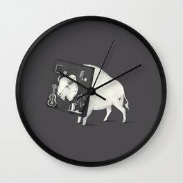 Not Amused (Dark) Wall Clock