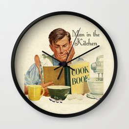 A Man in the Kitchen Wall Clock