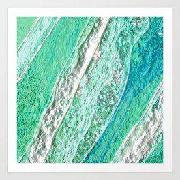 Green Crystal Ⅲ Art Print