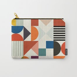 mid century retro shapes geometric Carry-All Pouch