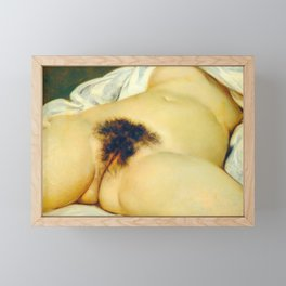(BIG) Origin of the World : L'Origine du monde by Gustave Courbet Framed Mini Art Print