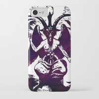 baphomet iPhone & iPod Cases featuring Baphomet Dreams by Devin Hunter