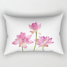 Lotos Waterlilies Flowes pink Rectangular Pillow