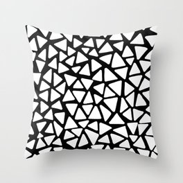 White Triangles Throw Pillow