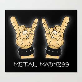 Metal Madness Horns Canvas Print