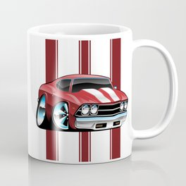 Sixties American Classic Muscle Car Cartoon Coffee Mug