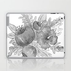 Tropical exotic flowers and leaves . Laptop & iPad Skin