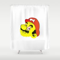mario Shower Curtains featuring Mario by CCCRRRAAAIIIGGG