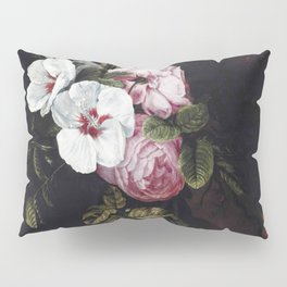 """Cornelis Kick """"Roses, poppies, hollyhocks, a marigold and other flowers"""" Pillow Sham"""