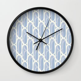 Yellow and blue waves Wall Clock