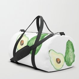 Avocado in watercolor Duffle Bag