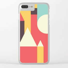 Abstract Pattern Background Clear iPhone Case