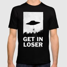 Get In Loser Black Mens Fitted Tee MEDIUM