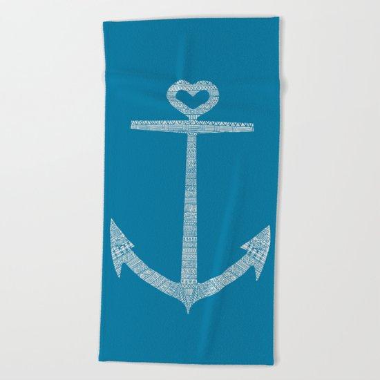 Love is the anchor Beach Towel