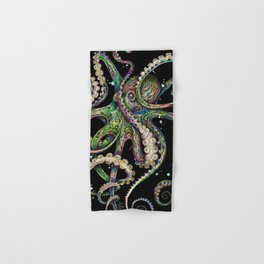 Octopsychedelia (black) Hand & Bath Towel