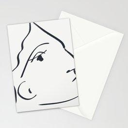 Delia minimalist female portrait Stationery Cards