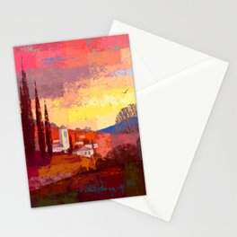 French Countryside Sunset Stationery Cards