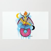 baphomet Area & Throw Rugs featuring Baphomer by Roe Mesquita
