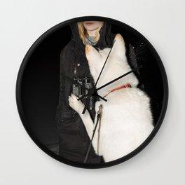 White Fang Wall Clock