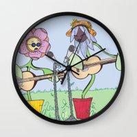 woodstock Wall Clocks featuring Woodstock Garden by Michele Baker