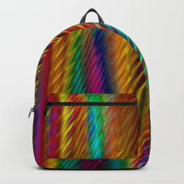 Feathers in Abstract Backpack