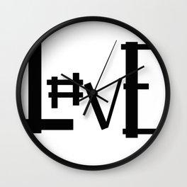 Hashtag Love Wall Clock