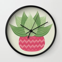 Watercolor Cactus Painting Wall Clock