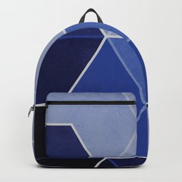 Navy Blue Composition 1 Backpack