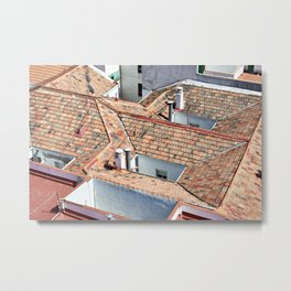 Old houses with tiled roofs Metal Print