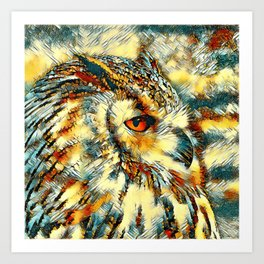 AnimalArt_Owl_20170917_by_JAMColorsSpecial Art Print