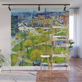 Classical Masterpiece 'Union Square in Spring' by Frederick Childe Hassam Wall Mural