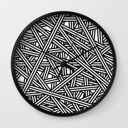 Interlaced Stripes Base Wall Clock
