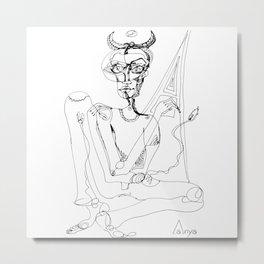 Devil in cogitation Metal Print