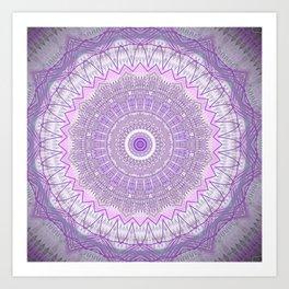 Lavender Purple Lace Mandala Art Print
