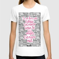 cities T-shirts featuring Cities by Raphaella Martelino
