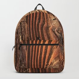 Honey Colored & Mahogany-Red Wood With Elegant Knot Backpack